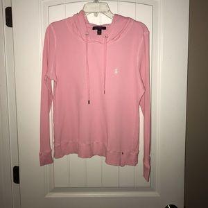 Ralph Lauren Polo Pink  Hoodie Pullover Women XL